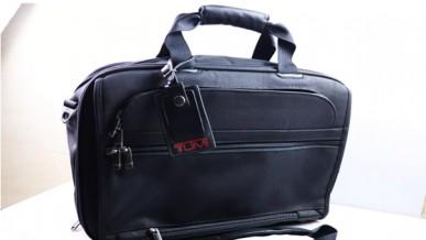 Genuine black Tumi travel bag in black Canvat fabric