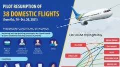 Pilot resumption of 38 domestic flights