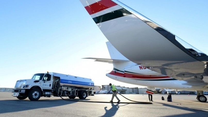 Supervise aviation fuel temporarily imported for re-export